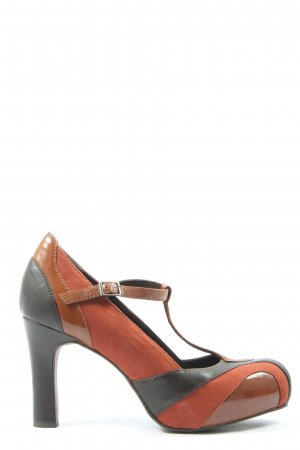 Tamaris High Heels hellorange-schwarz Business-Look