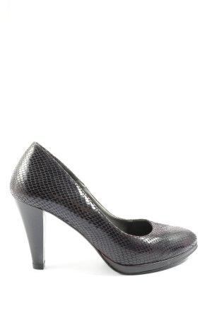 Tamaris High Heels braun Animalmuster Business-Look