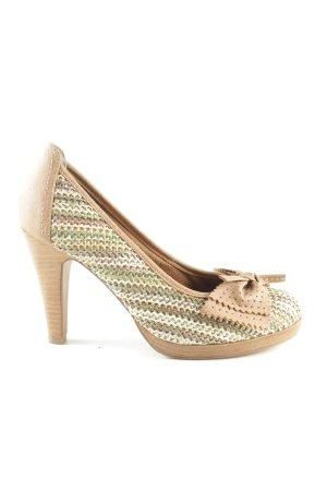 Tamaris High Heels creme-grün Webmuster Casual-Look