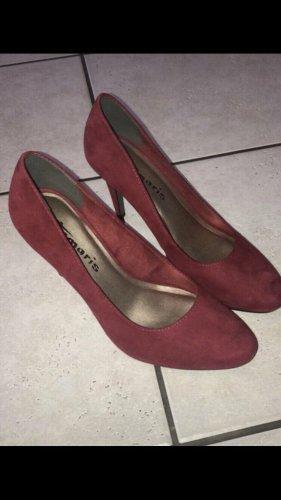 Tamaris High Heels, Pumps, neu, Gr. 39, Bordeauxrot