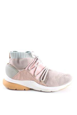 Tamaris Basket montante rose-gris clair style décontracté