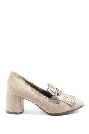 Tamaris Chaussure à talons carrés blanc cassé-gris clair style décontracté