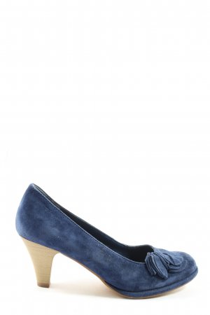 Tamaris Hochfront-Pumps blau Business-Look