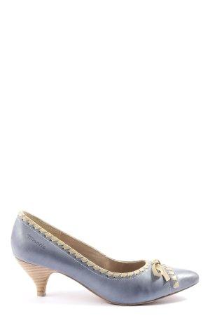 Tamaris Chaussure à talons carrés bleu-blanc cassé style décontracté