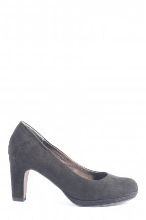 Tamaris Hochfront-Pumps hellgrau Business-Look