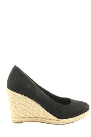 Tamaris Wedge Sandals black-cream casual look