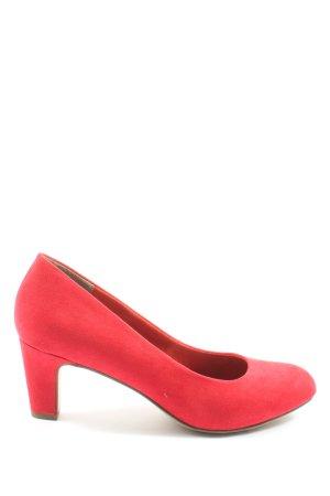 Tamaris Buty z zabudowanym przodem czerwony W stylu casual