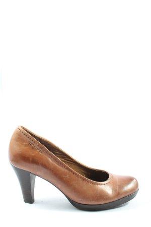 Tamaris Buty z zabudowanym przodem brązowy W stylu casual