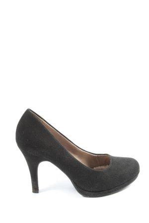 Tamaris Buty z zabudowanym przodem czarny W stylu casual