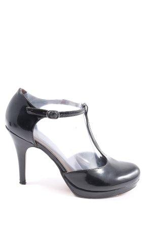Tamaris Pumps met hoge zool zwart elegant
