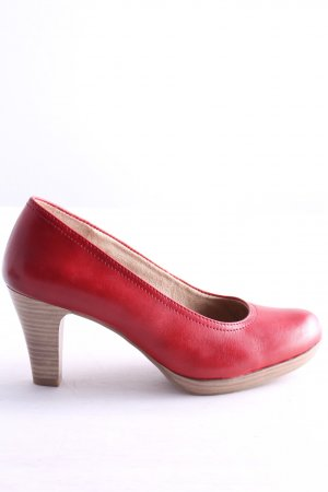 Tamaris High-Front Pumps red-natural white business style