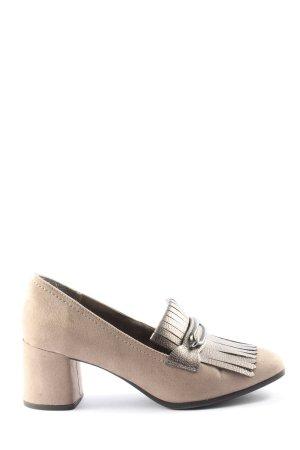 Tamaris Chaussure à talons carrés blanc cassé style d'affaires