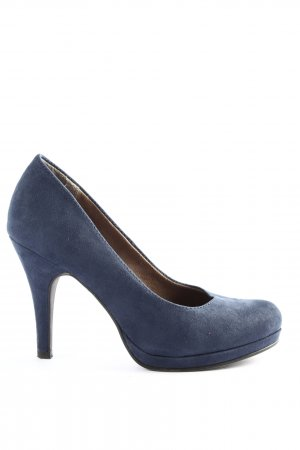 Tamaris Hochfront-Pumps blau Casual-Look