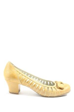 Tamaris Chaussure à talons carrés jaune primevère style décontracté