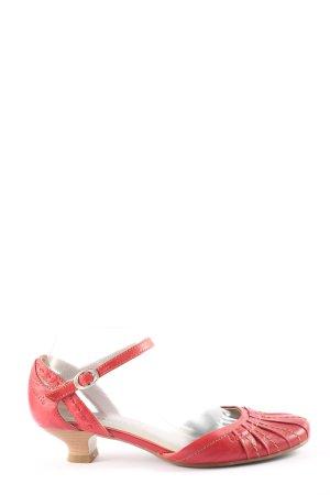Tamaris Tacones de tiras rojo look casual