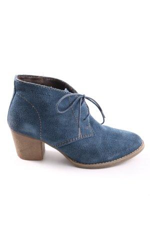 Tamaris Hochfront-Pumps blau Business-Look