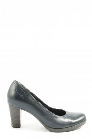Tamaris Hochfront-Pumps dunkelblau Business-Look