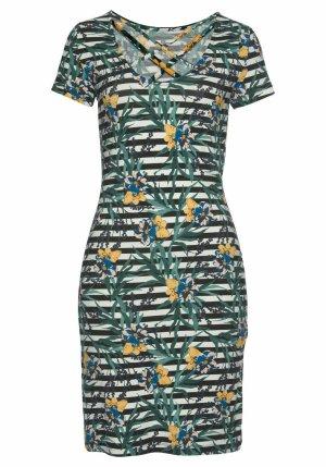 Tamaris Jerseykleid in tollem Print mit Rückenschnürung GR. 34 neu