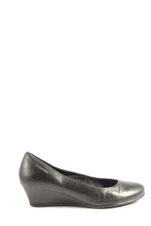 Tamaris Pumps met sleehak zwart zakelijke stijl