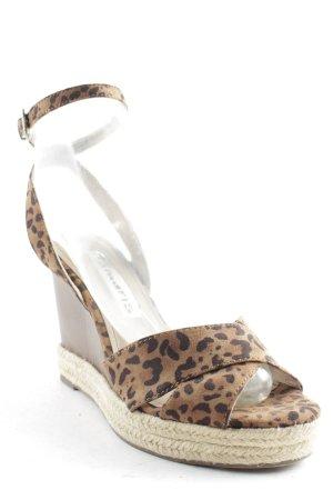 Tamaris Wedge Pumps light brown-black leopard pattern street-fashion look