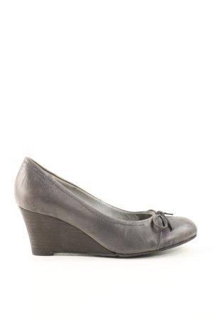 Tamaris Zapatos de cuña gris claro estilo «business»