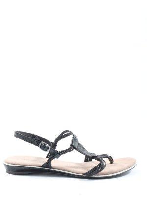 Tamaris Comfortabele sandalen zwart elegant