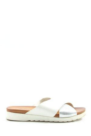 Tamaris Sandalo comodo bianco-argento stile casual