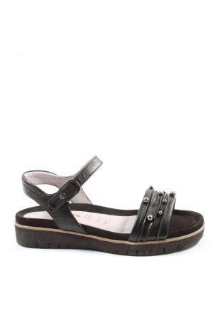 Tamaris Komfort-Sandalen schwarz Casual-Look