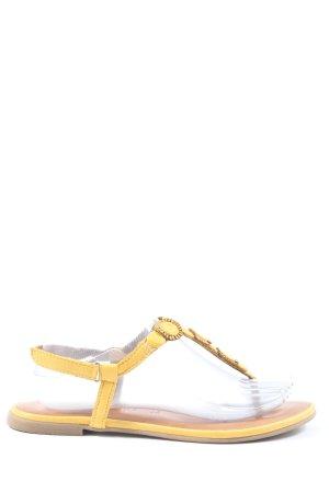 Tamaris Sandalias cómodas amarillo pálido look casual