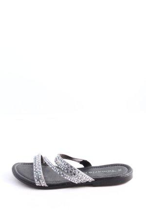 Tamaris Komfort-Sandalen schwarz-silberfarben Casual-Look