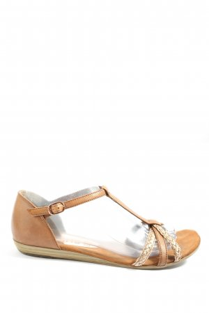 Tamaris Comfort Sandals brown-cream casual look