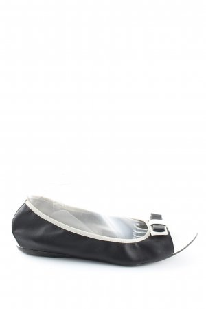 Tamaris Patent Leather Ballerinas black-white business style