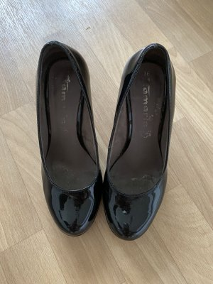 Tamaris Lackleder Pumps schwarz