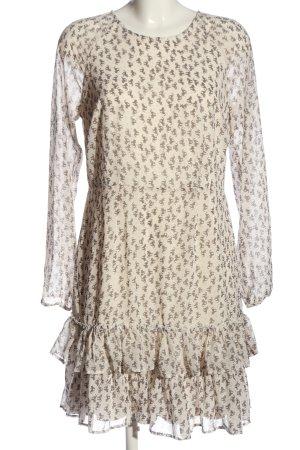 Tamaris Longsleeve Dress natural white-brown allover print casual look