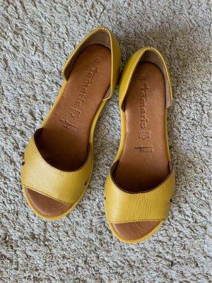 Tamaris Sandalias de playa amarillo-naranja dorado Cuero