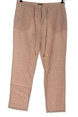 Tamaris Lniane spodnie różowy W stylu casual