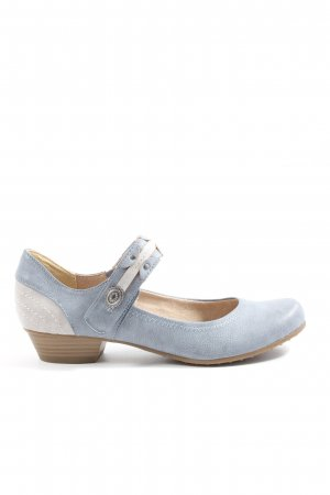 Tamaris Mary Jane Halbschuhe blau-hellgrau Casual-Look