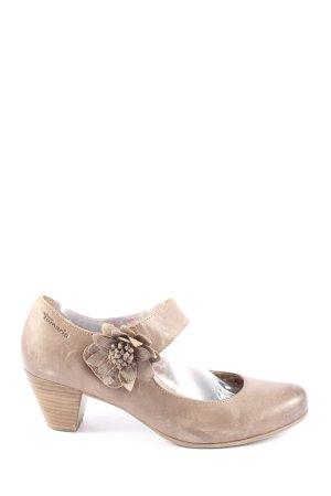 Tamaris Tacones Mary Jane blanco puro look Street-Style
