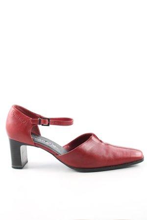 Tamaris Tacones Mary Jane rojo estilo sencillo