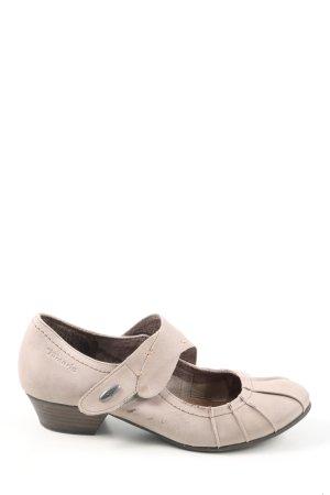 Tamaris Tacones Mary Jane blanco puro look casual