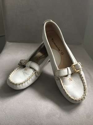 Tamaris Moccasins white leather