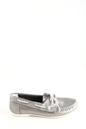 Tamaris Mocassino argento-bianco stile casual