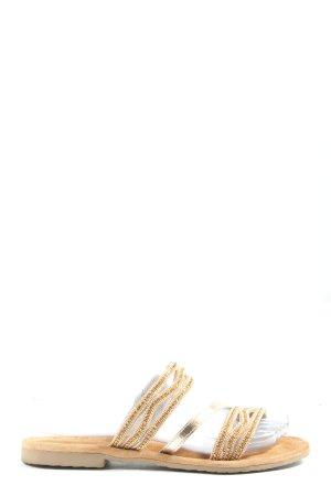 Tamaris Sandalias para uso en exteriores crema-color oro look casual