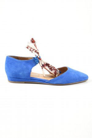 Tamaris Ballerines à lacets bleu style décontracté