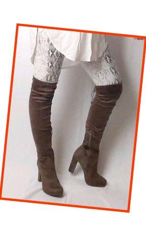 Tamaris Botas sobre la rodilla marrón claro-marrón