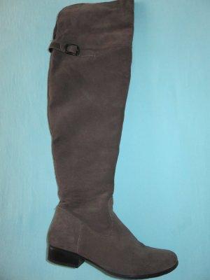Tamaris Overknees grey-dark grey leather