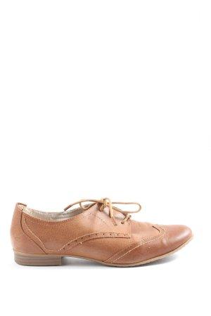 Tamaris Scarpa Oxford marrone stile casual