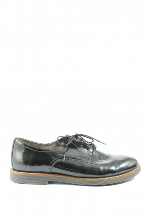 Tamaris Zapatos estilo Oxford negro look casual