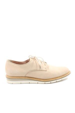 Tamaris Zapatos estilo Oxford blanco puro look casual