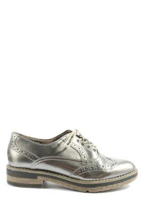 Tamaris Scarpa Oxford argento stile casual